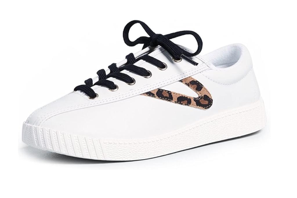 tretorn sneaker, leopard sneaker, white leopard sneaker
