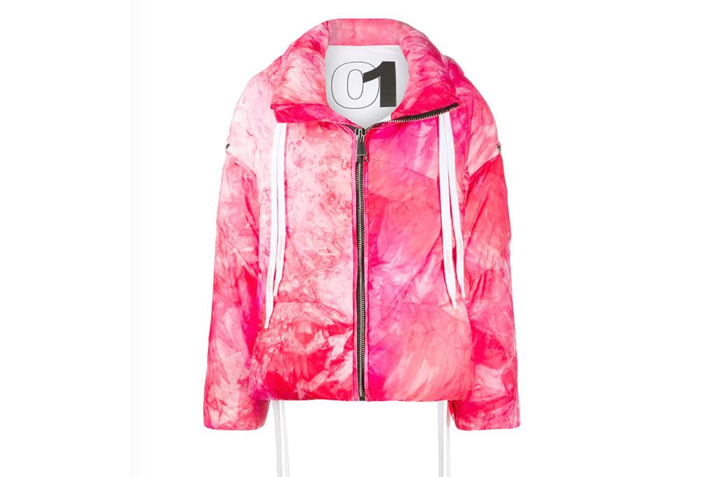 Khrisjoy tie-dye padded jacket, tie dye puffer, krisjoy jacket