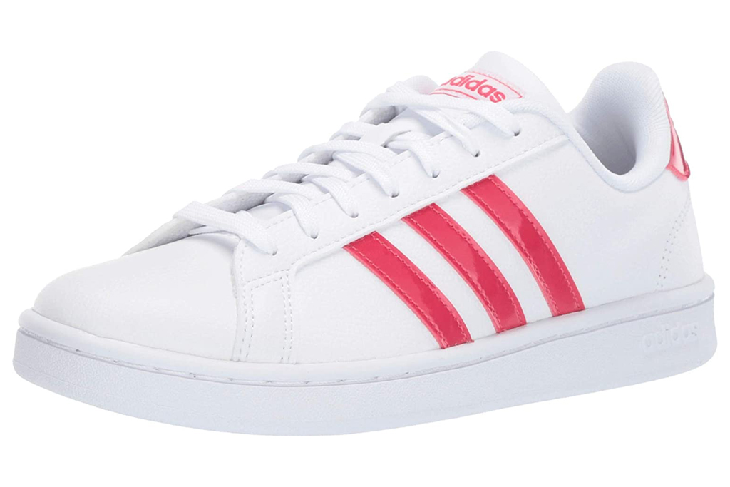 sneakers, red, white, shoes, adidas
