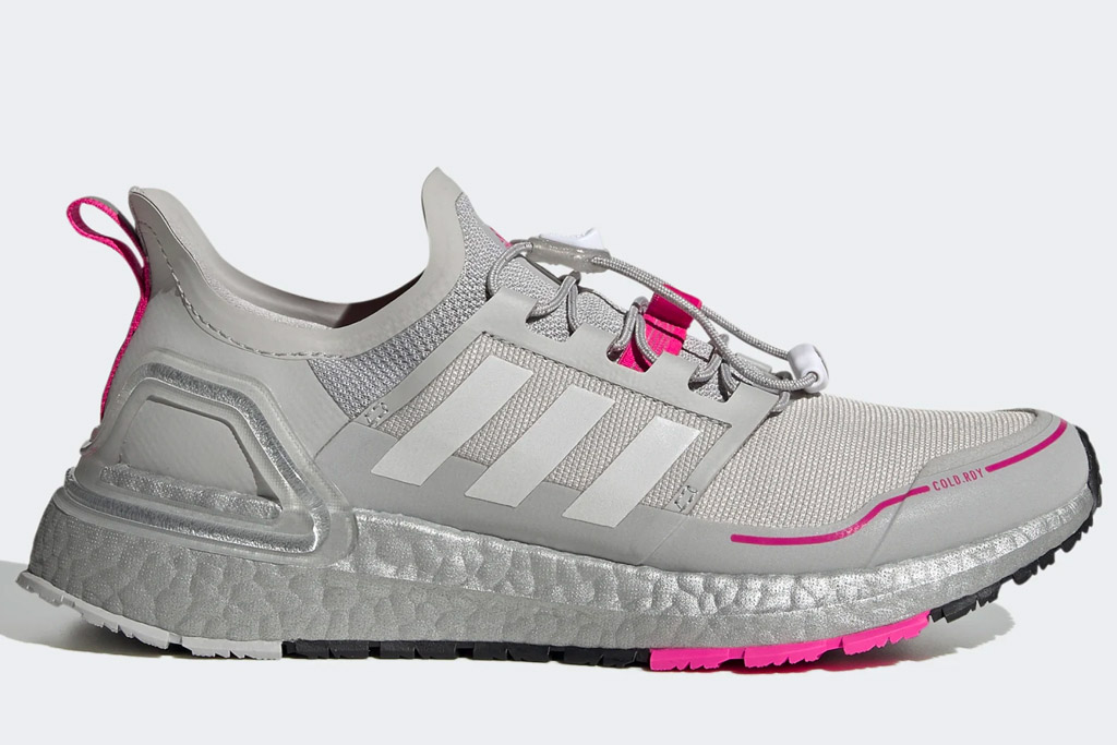 gray sneakers, pink, adidas
