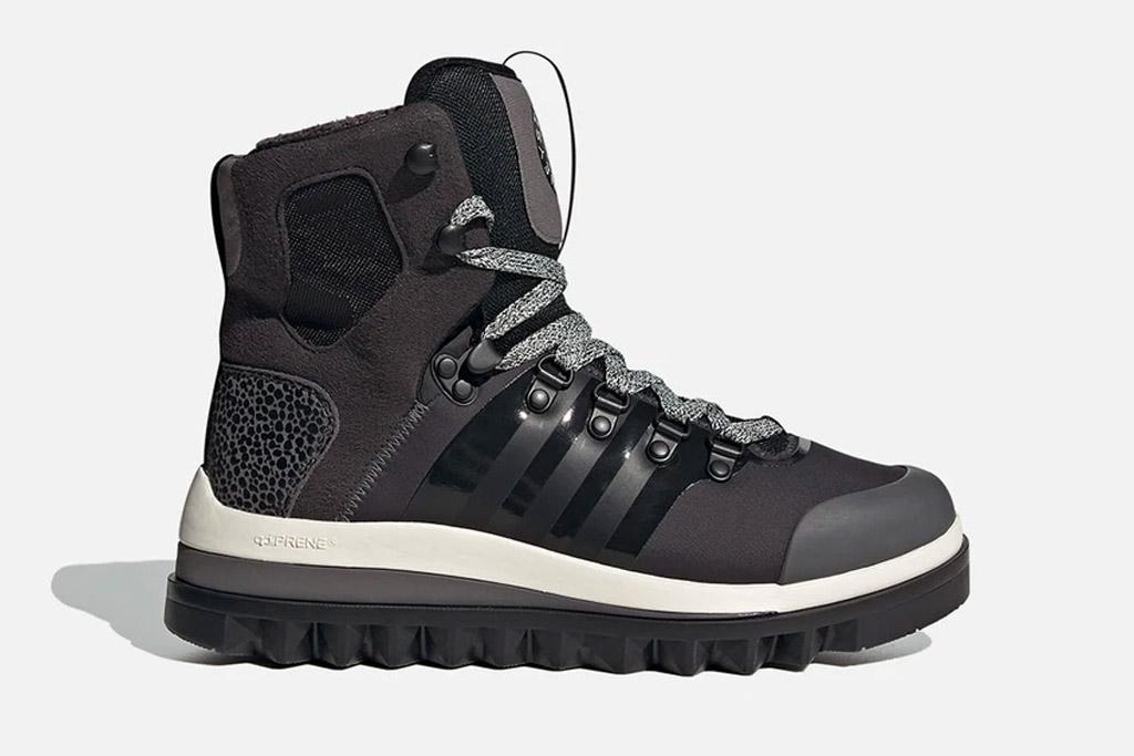 black boots, snow boots, adidas, stella mccartney