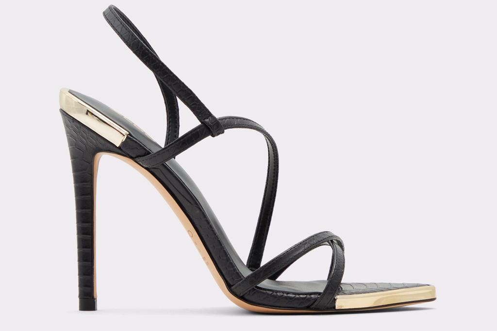 black sandals, heels, aldo
