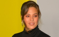 ashley graham, coat, boots
