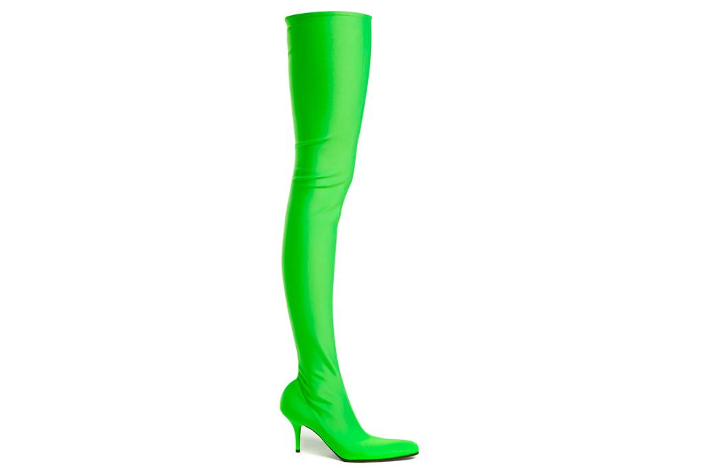 balenciaga, boots, green