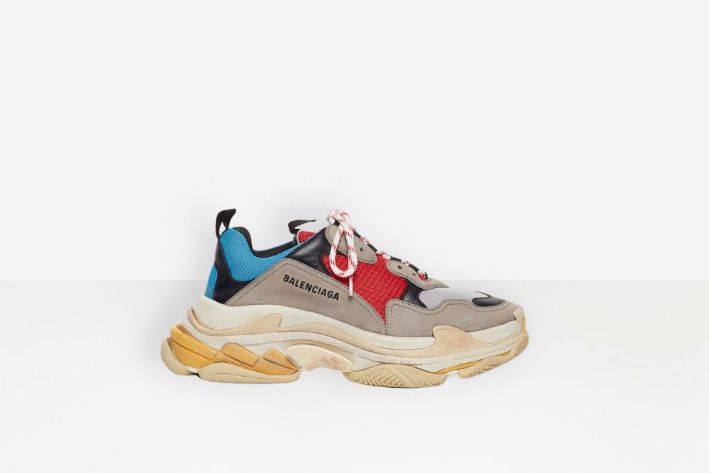 balenciaga triple s, dad sneakers, dad shoes, 2020 fashion trends