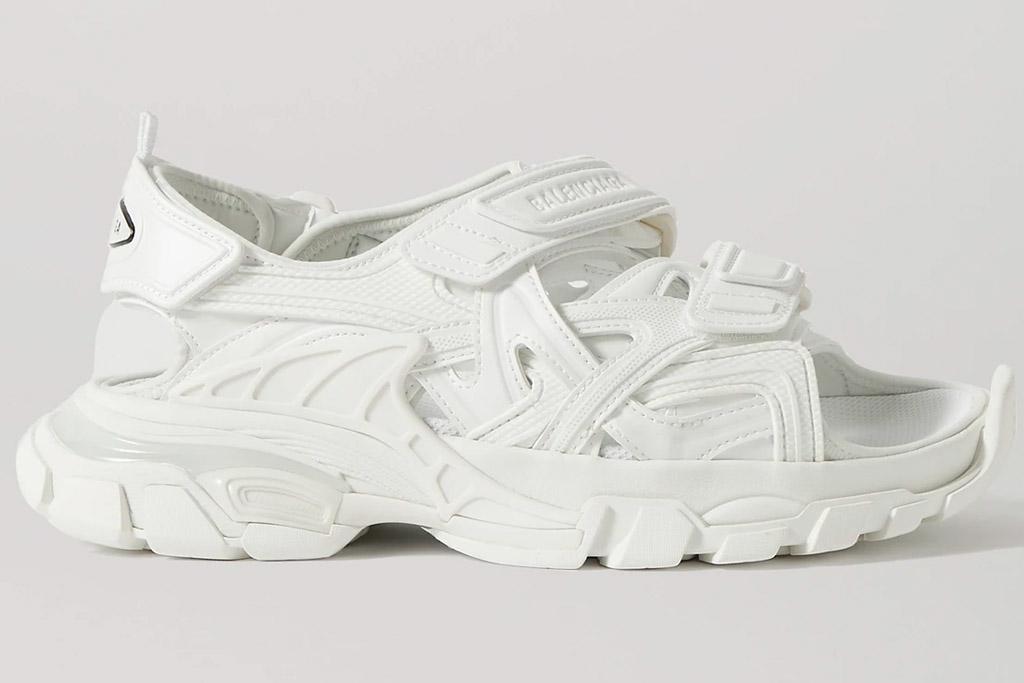 balenciaga, track, sandals, velcro, white