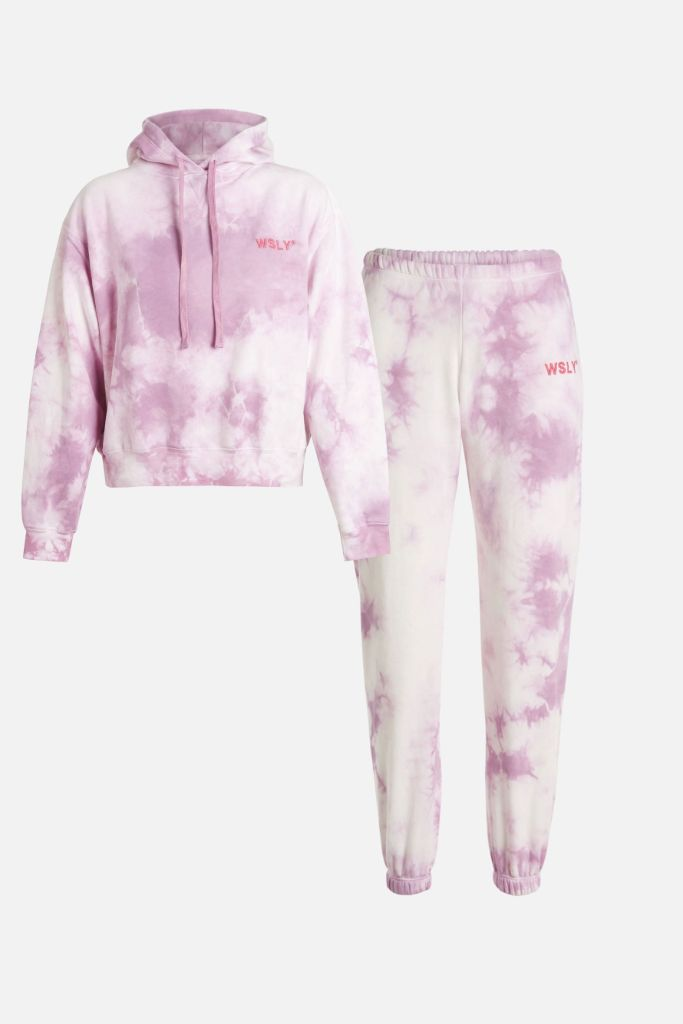 bandier, sweat set, tie dye hoodie, tie dye, tie dye sweatpants, sweat set