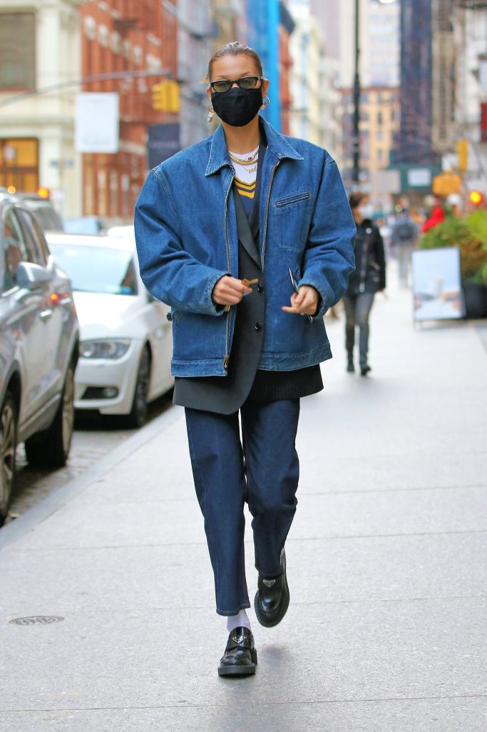 Bella Hadid out and about in NYC on Dec. 13.
