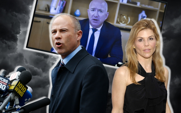legal drama lawsuits 2020 Lori loughlin Michael avenatti Bezos