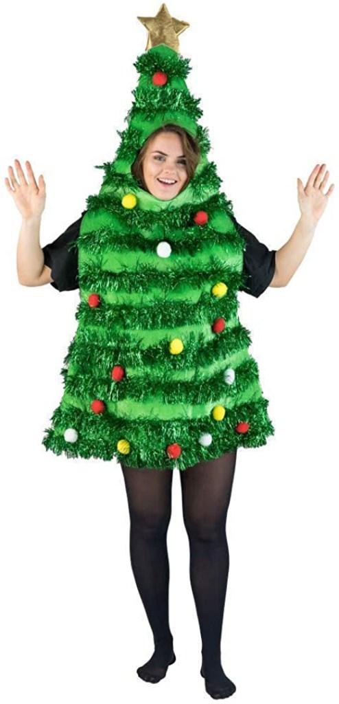 christmas tree, dress, costume, amazon