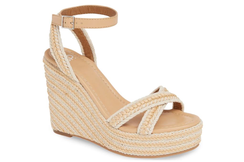 wedges, sandals, nude, bp