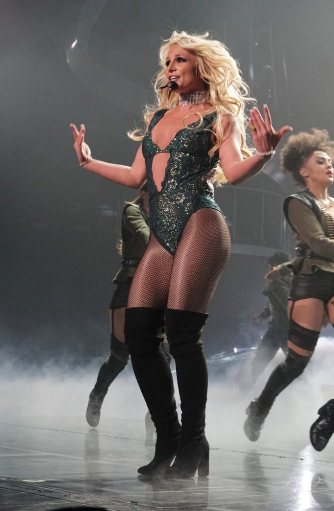 Britney Spears performs her Piece Of Me concert at the Axis Theatre Planet Hollywood Hotel Las Vegas Nevada USA 7th April 2017Pictured: Britney SpearsRef: SPL1478079 070417 NON-EXCLUSIVEPicture by: SplashNews.comSplash News and PicturesUSA: +1 310-525-5808London: +44 (0)20 8126 1009Berlin: +49 175 3764 166photodesk@splashnews.comWorld Rights