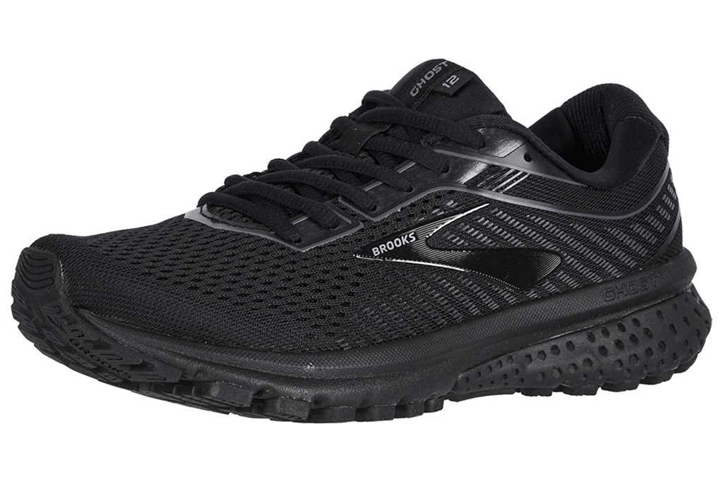 black, running shoes, women, brooks