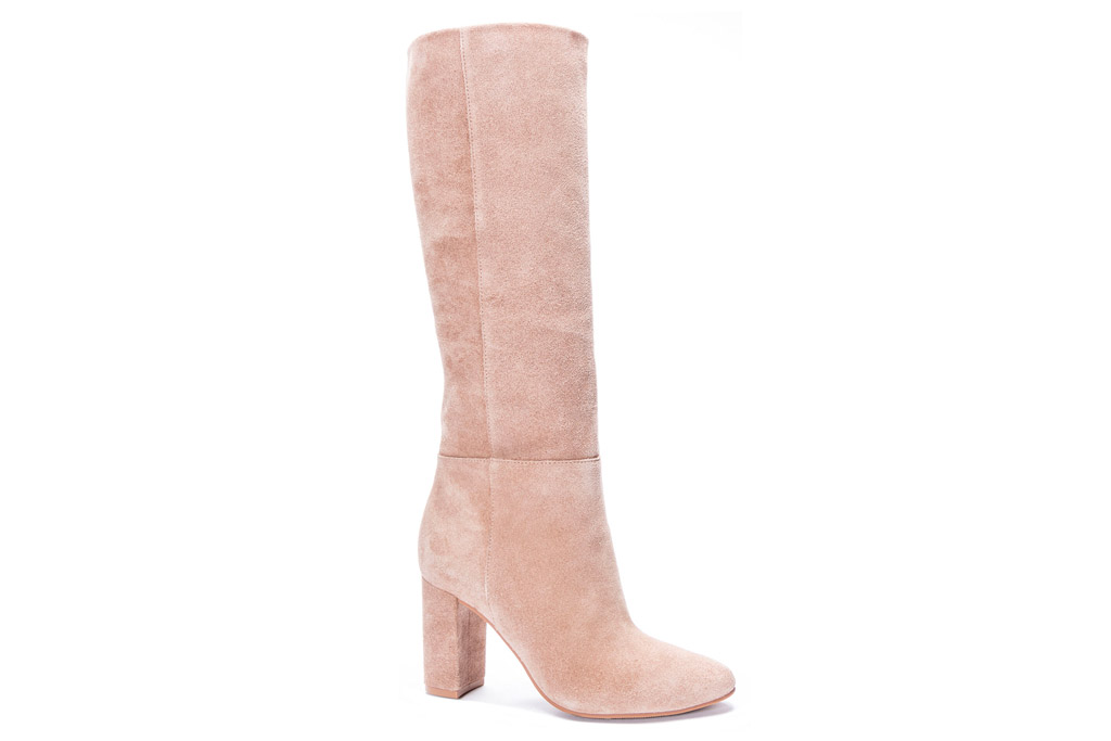 boots, suede, soft, pink, chinese laundry