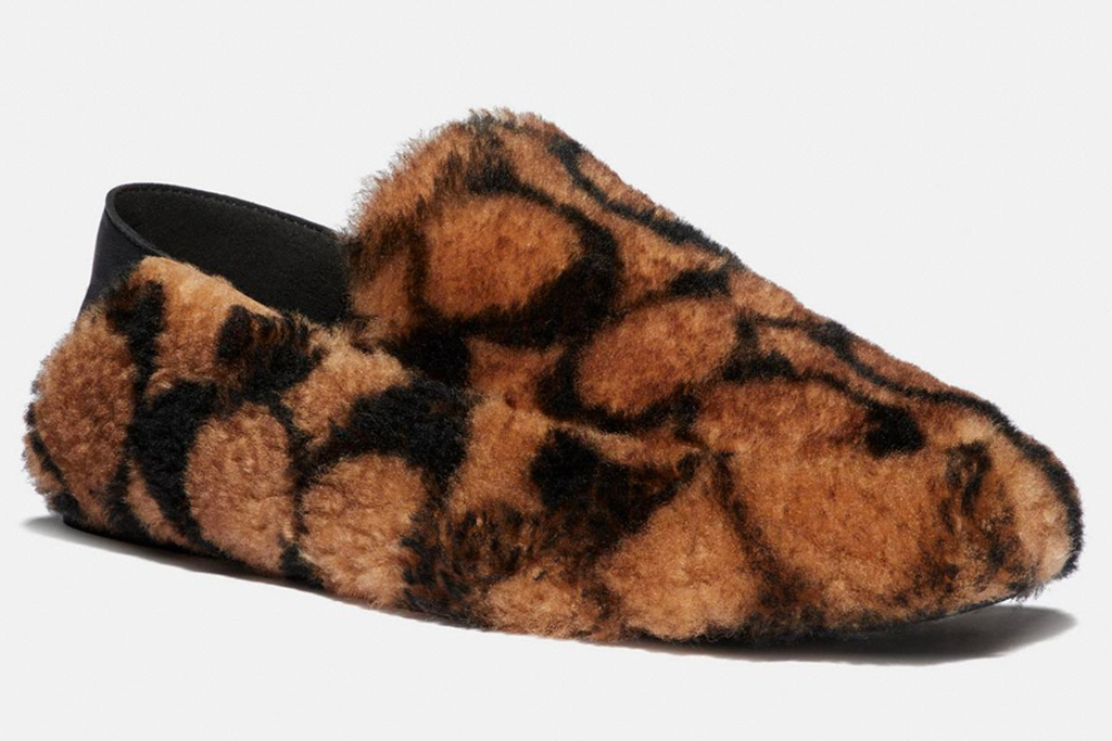 clogs, slippers, fuzzy, coach