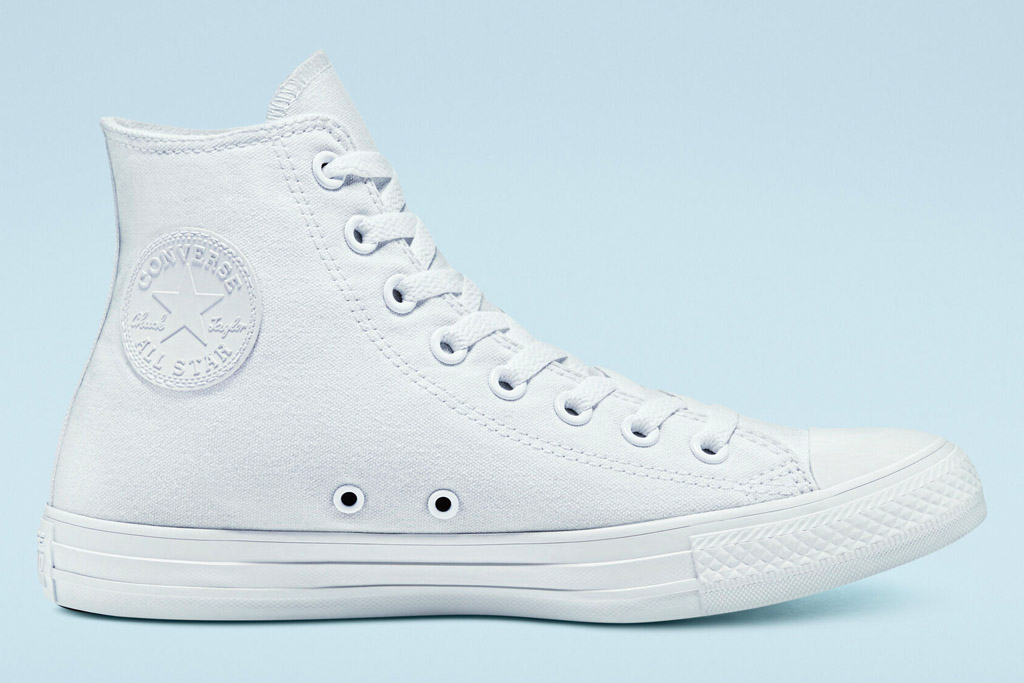 white sneakers, high top, converse