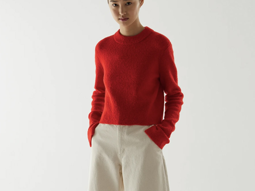cos sweater, red