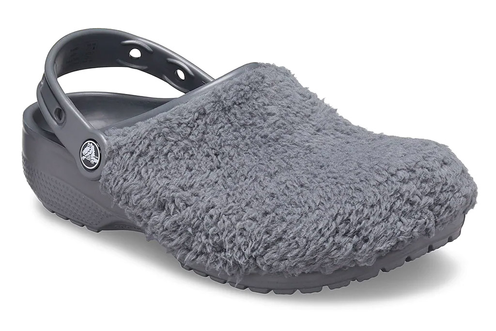 crocs, clogs, fuzz