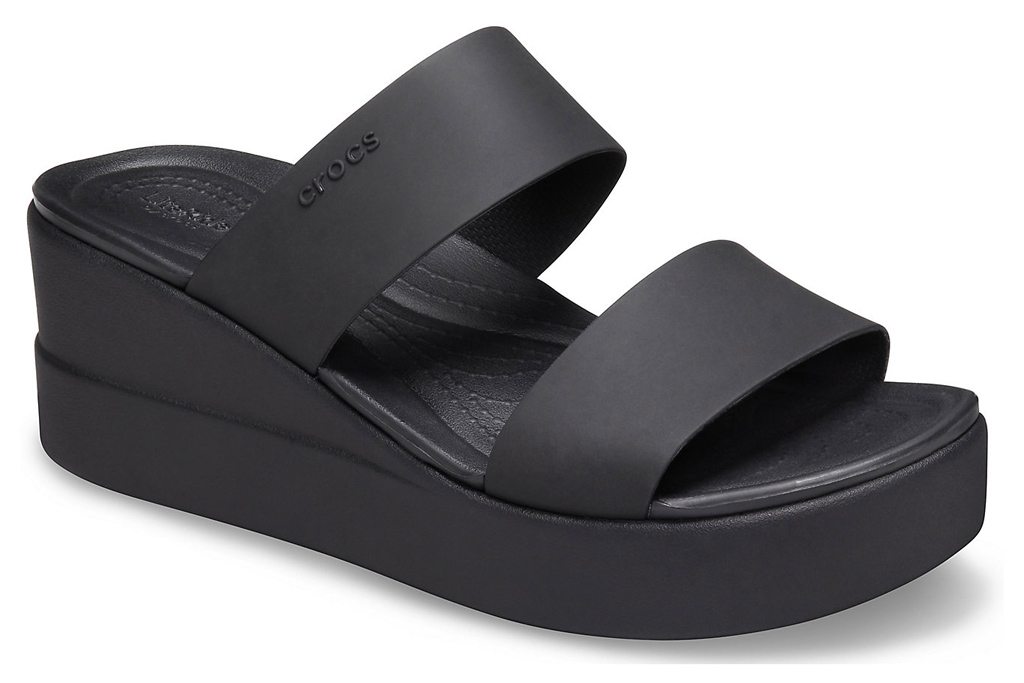 crocs, clogs, platform, shoes, sandals, black
