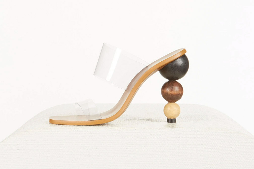 cult gaia, heels, clear