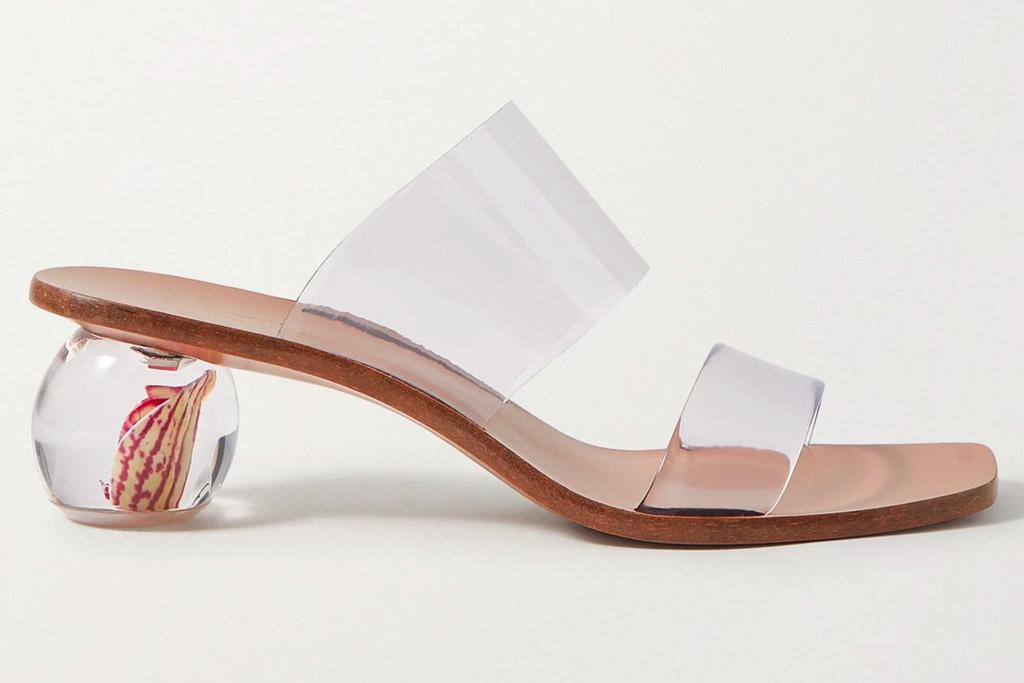 clear heels, sandals, mules, cult gaia