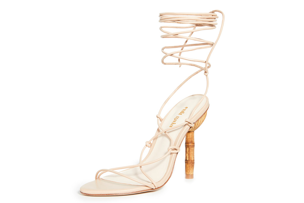 heels, nude, ankle wrap, cult gaia