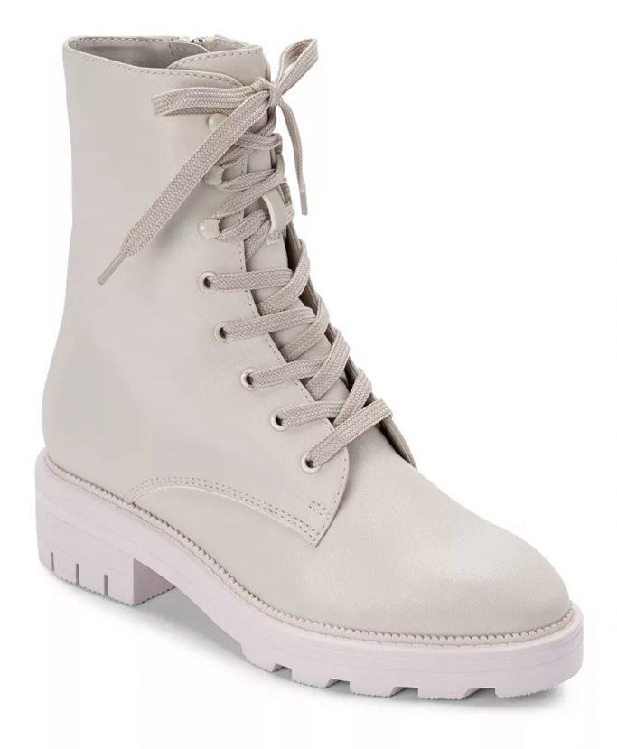 Dolce Vita Lottie Almond Toe Leather Combat Booties