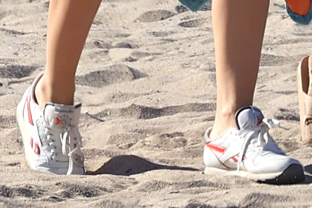 emily ratjakowski, bikini, bathing suit, inamorata, sneakers, beach, reebok, los angeles, bump