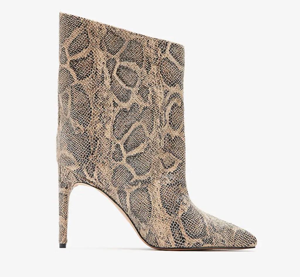 snakeskin boots, boots, express