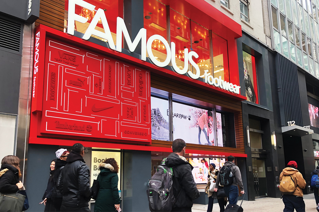 Famous Footwear Manhattan Store