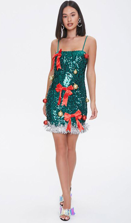 christmas tree, dress, costume, forever 21