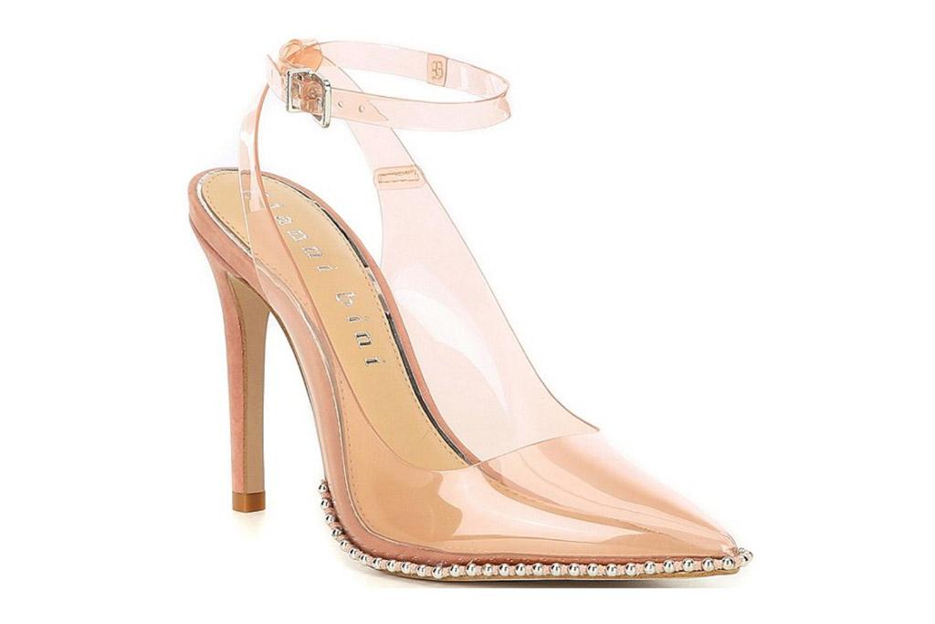 clear heels, pumps, gianni bini