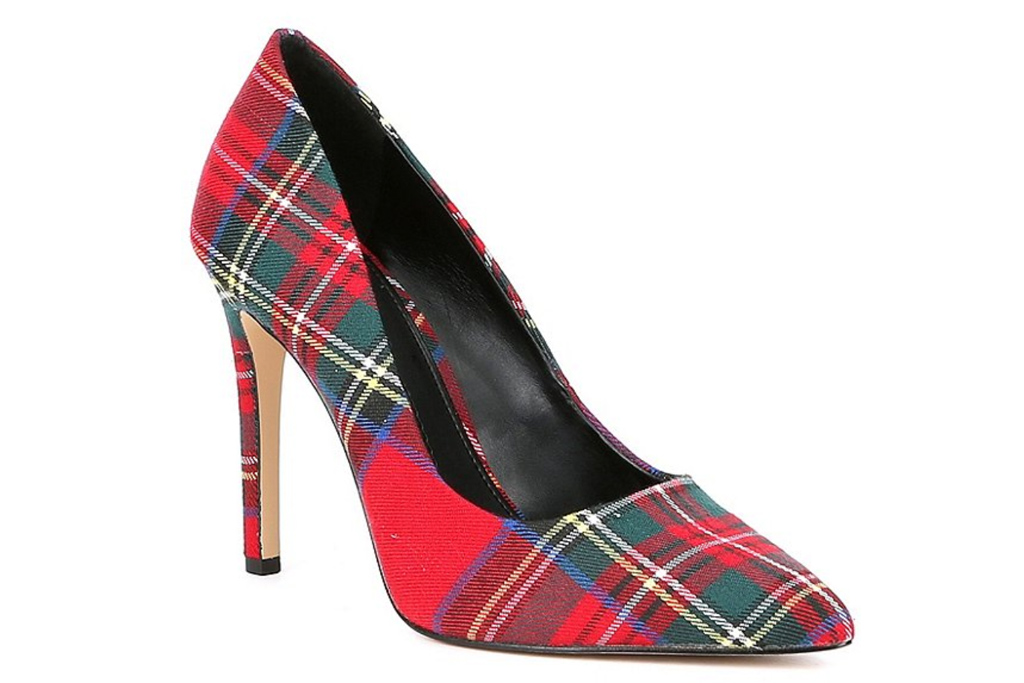 pumps, plaid, checkered, heels, gianni bini