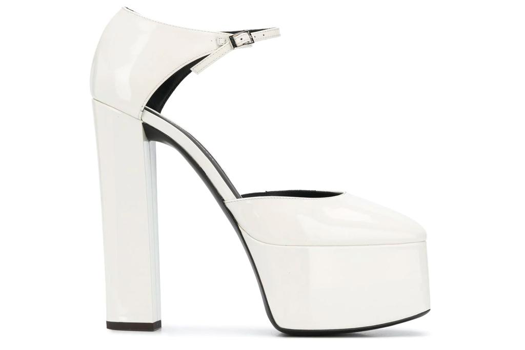 Giuseppe Zanotti, Patent platform heels, white