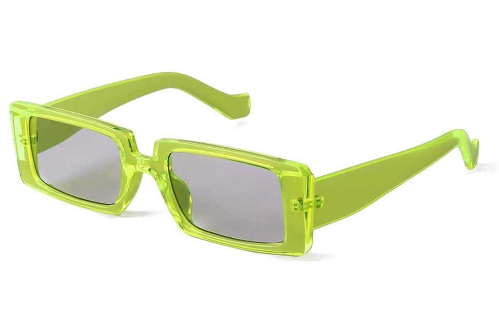 sunglasses, green, rectangle