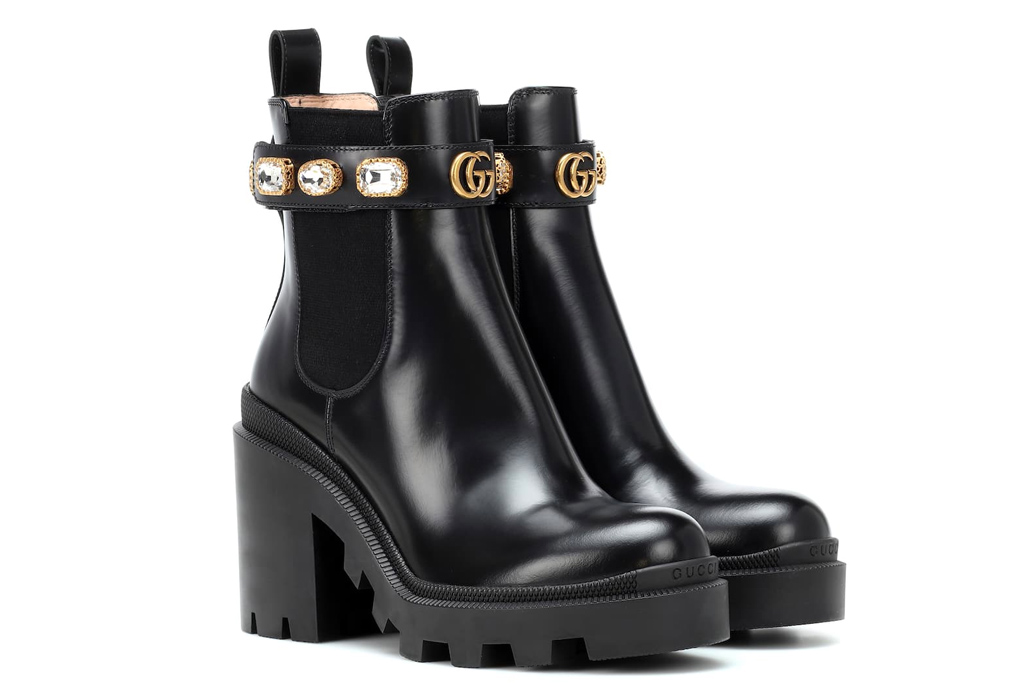 gucci, boots, embellished