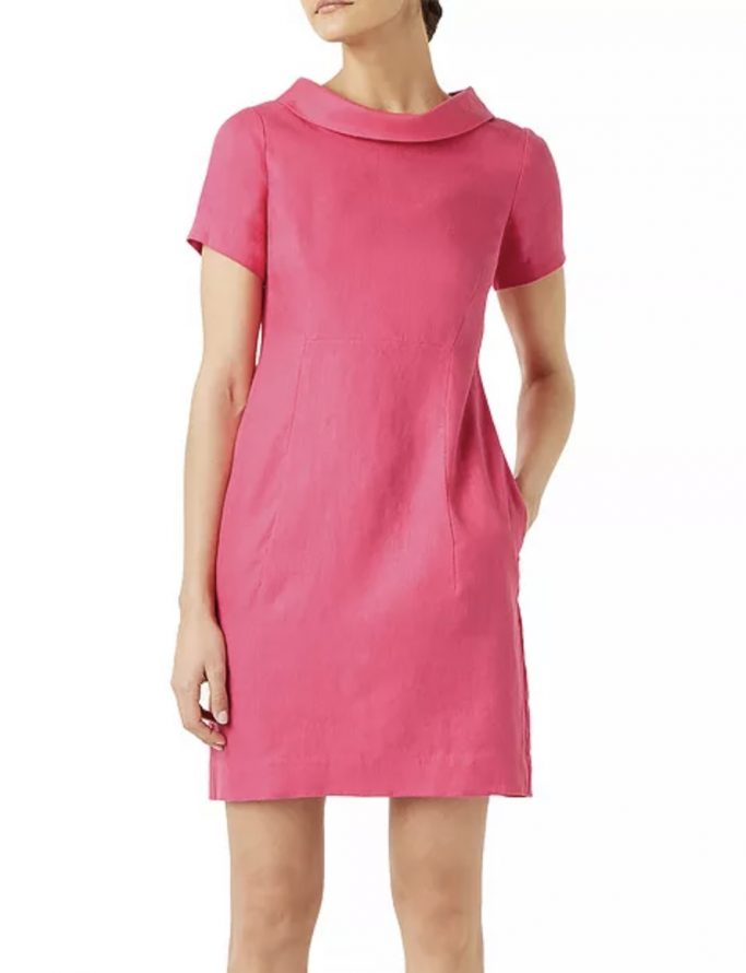 Hobbs London Linen Petra Dress