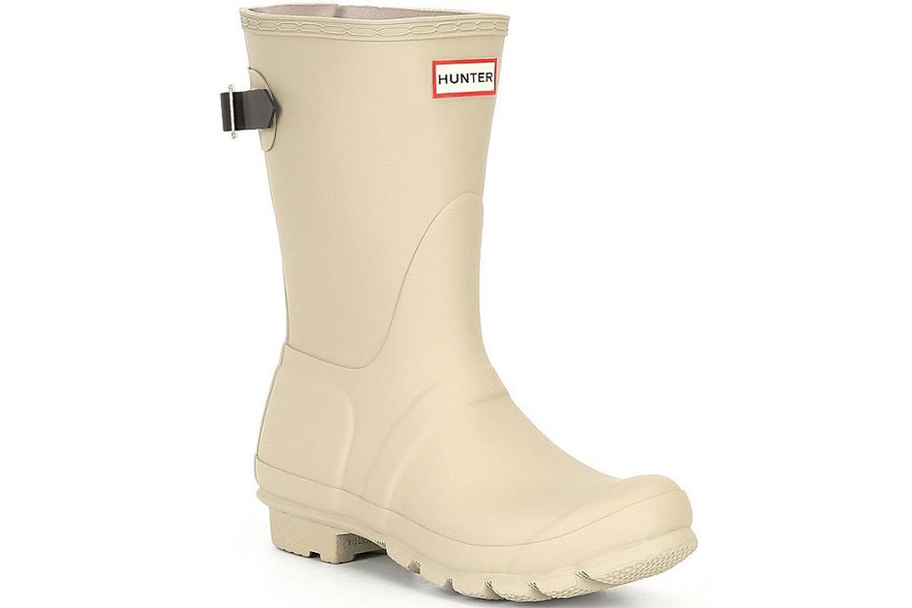 hunter rain boots, beige rain boots, hunter