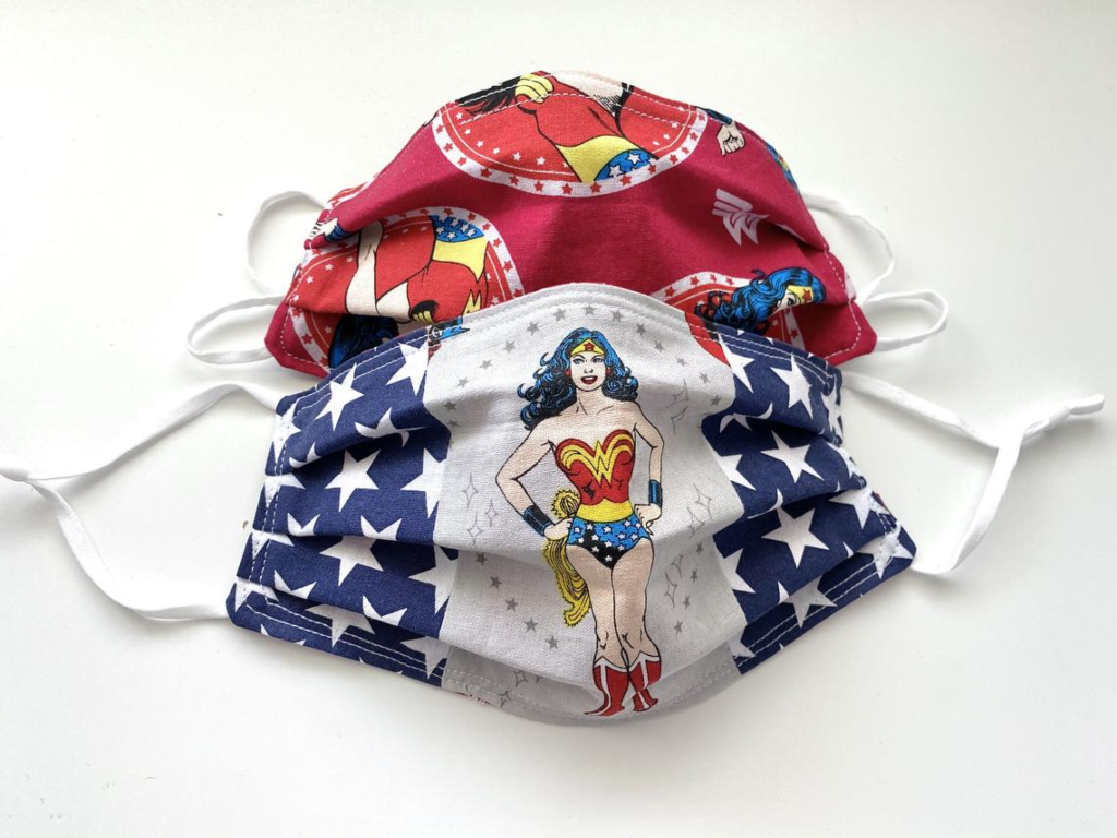 DottyLaneDesigns Wonder Woman Face Mask
