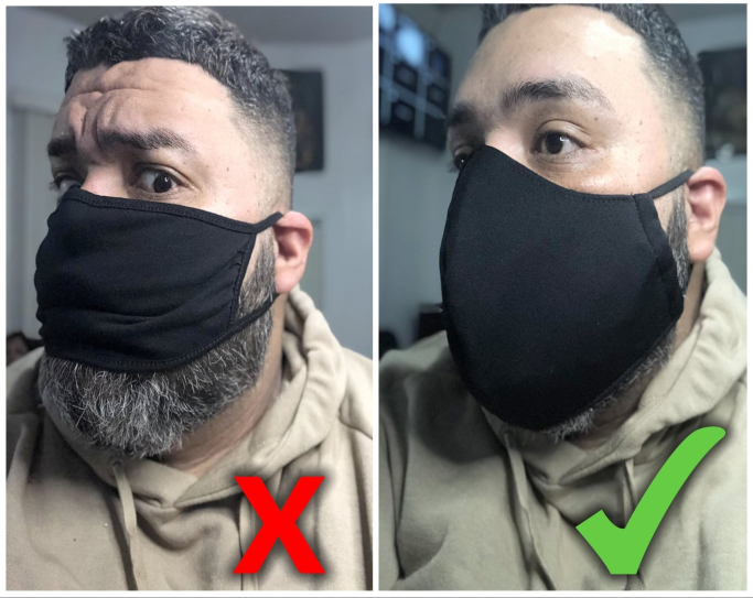 SafeMasksLA Big Guy Designed Face Mask
