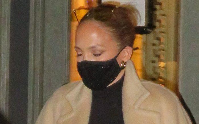 Jennifer Lopez Arrives At Hermes In New York City