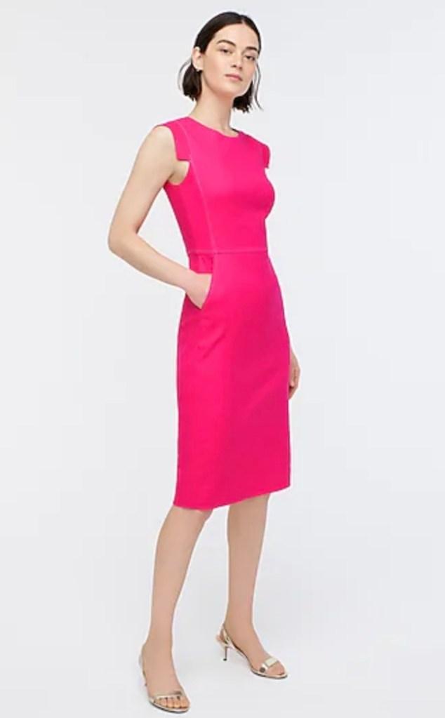 J. Crew Stretch Linen Dress