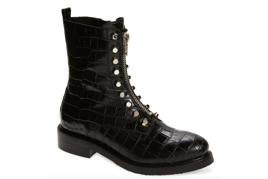 black boots, booties, embellished, jeffrey campbell