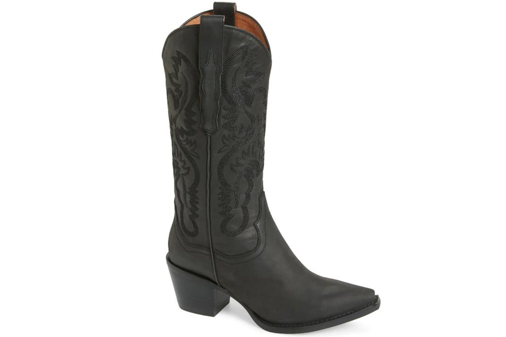 black boots, cowboy boots, jeffrey campbell