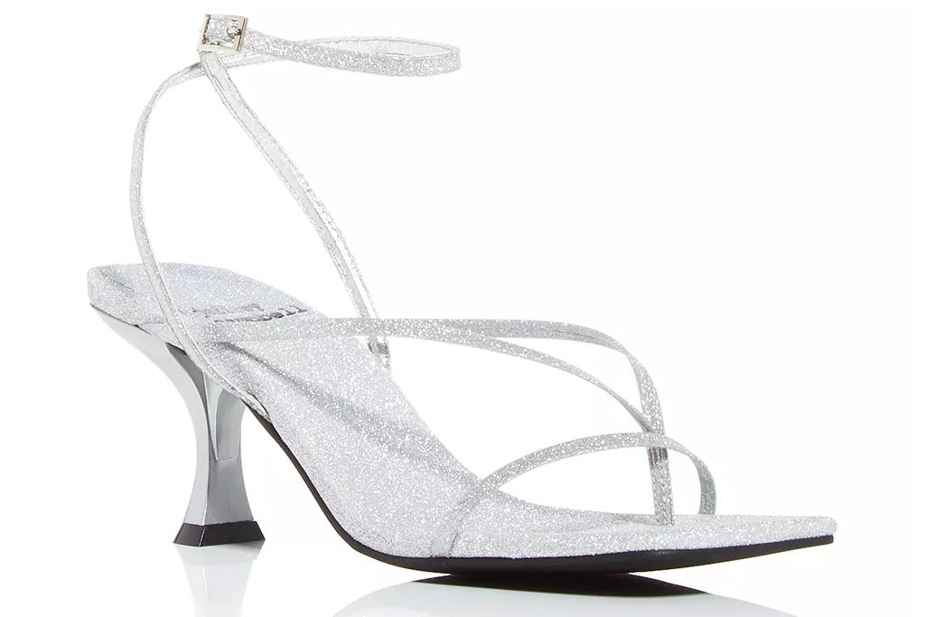 sandals, glitter, ankle wrap, jeffrey campbell