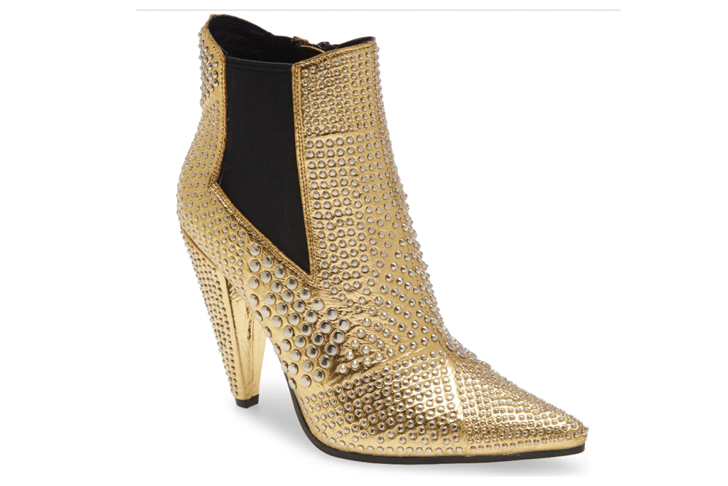 gold boots, jeffery campbell
