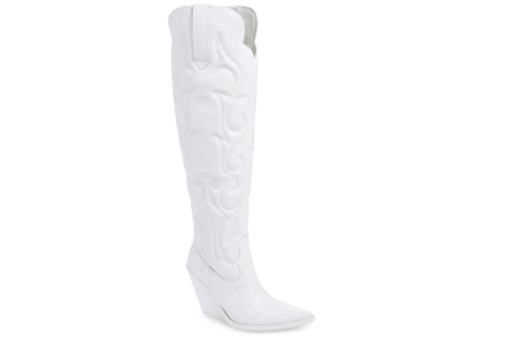 white boots, cowboy boots, jeffrey campbell