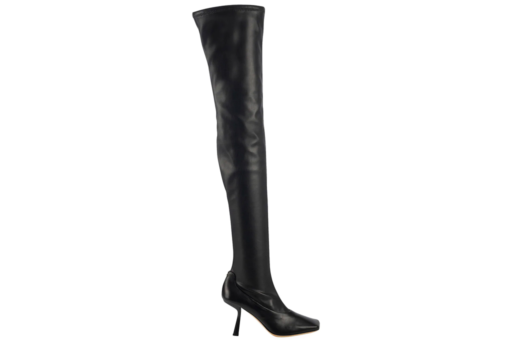 jimmy choo, boots, square-toe boots, black, leather