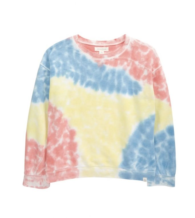 Treasure & Bond Kids' Tie Dye Fleece Sweatshirt
