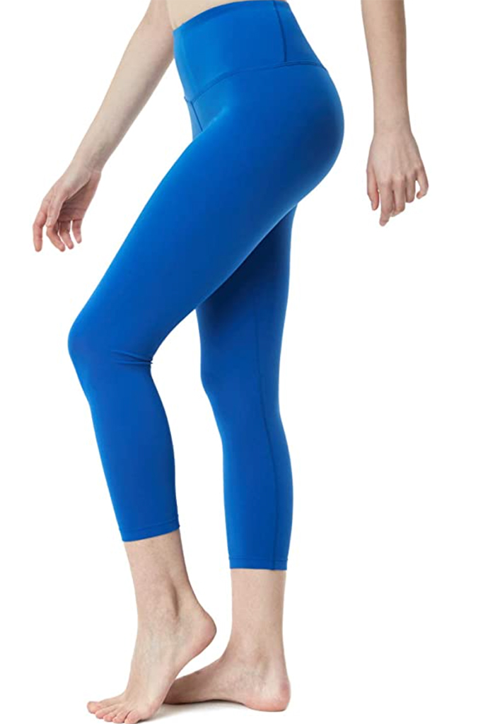 blue leggings, yoga pants, blue pants
